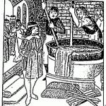 Medieval indigo dying